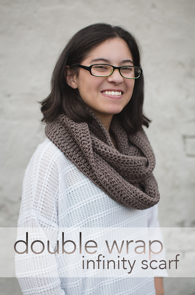 Double Wrap Infinity Scarf (Free Pattern!)
