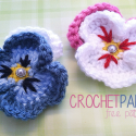 Pansy Crochet Flower