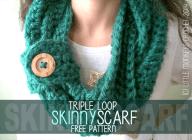 Triple Loop Skinny Scarf