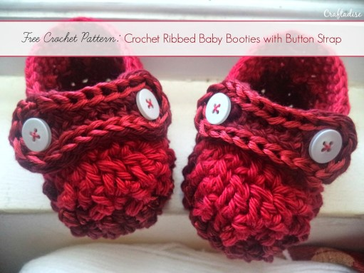 Crochet Ribbed Baby Booties  |  Off the Hook Monday