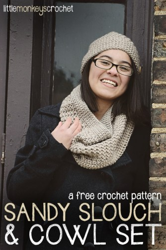 Sandy Slouch & Cowl Set | Free Patterns by Little Monkeys Crochet
