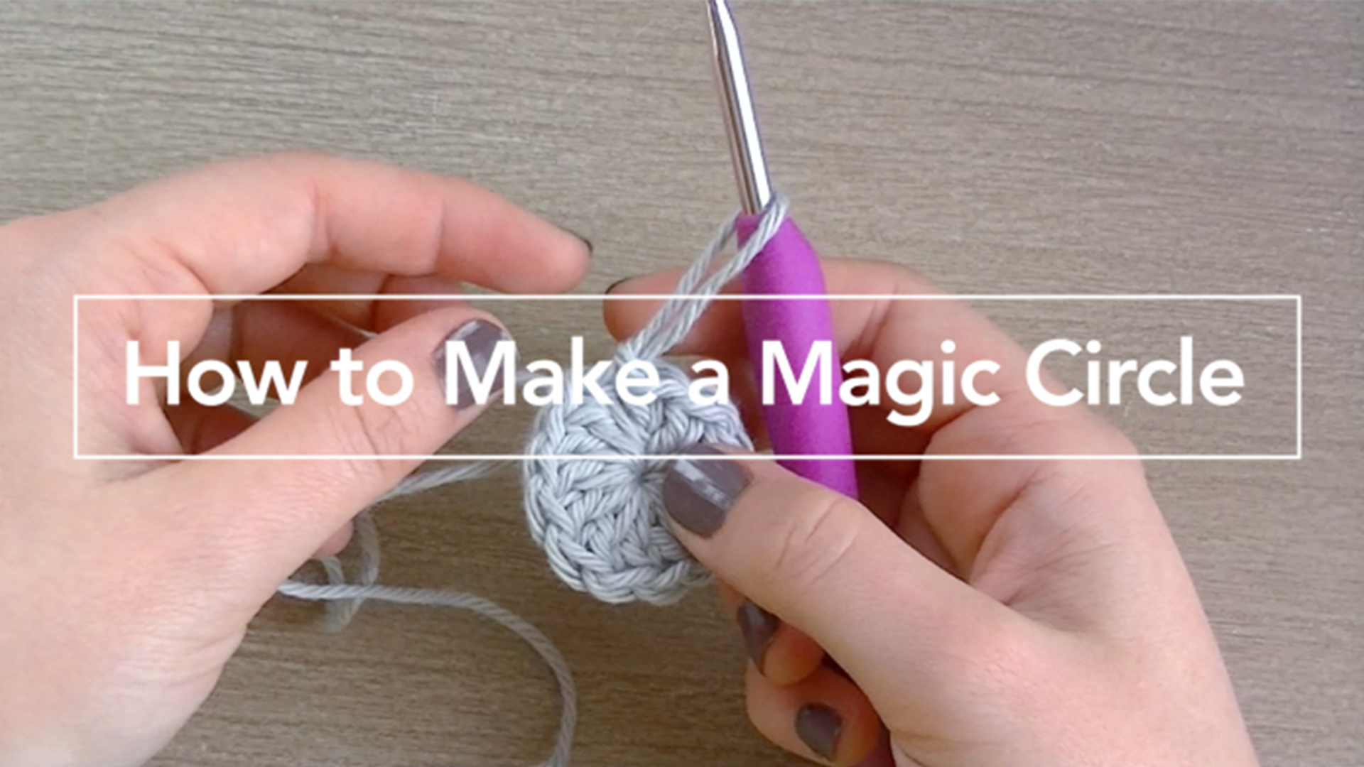 How to Crochet a Magic Circle  |  Video Tutorial by Little Monkeys Crochet