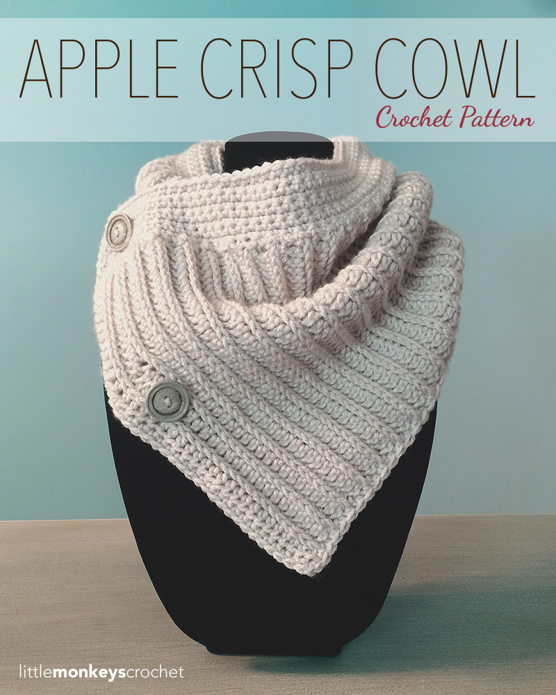 Apple Crisp Crochet Cowl  |  Free Crochet Cowl Pattern by Little Monkeys Crochet, littlemonkeyscrochet.com