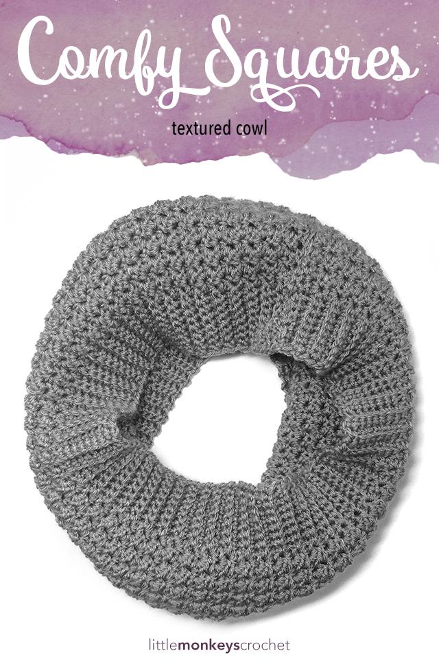 Comfy Squares Textured Cowl
