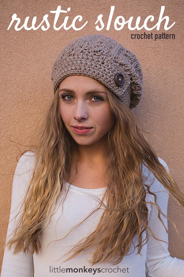 Bonnet rustique au crochet