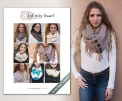 8 Infinity Scarf Crochet Patterns | E-Book by Little Monkeys Crochet