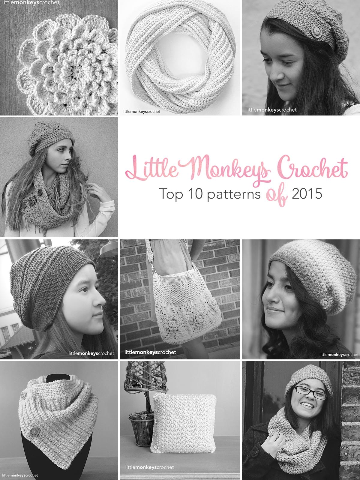 Top 10 Patterns of 2015  |  Free crochet patterns by Little Monkeys Crochet