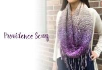 Providence Scarf Crochet Pattern  |  Free Fringe Infinity Scarf Crochet Pattern by Little Monkeys Crochet