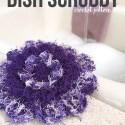 Wildflower Dish Scrubby Crochet Pattern with Red Heart Scrubby Yarn  |  Free Crochet Scrubby Pattern by Little Monkeys Crochet