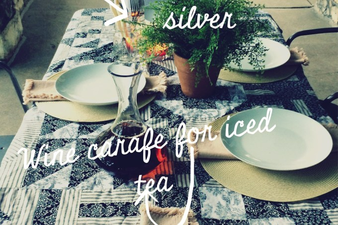 716 Al Fresco summer supper time