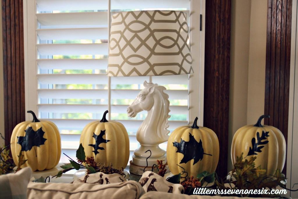 White silhouette pumpkins