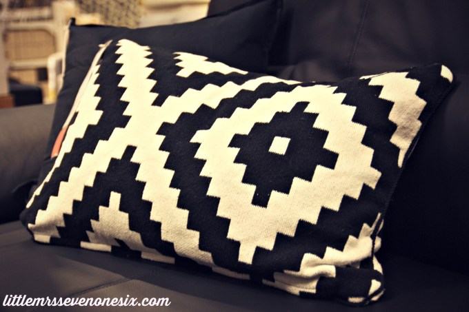 Ikea pillow tribal print