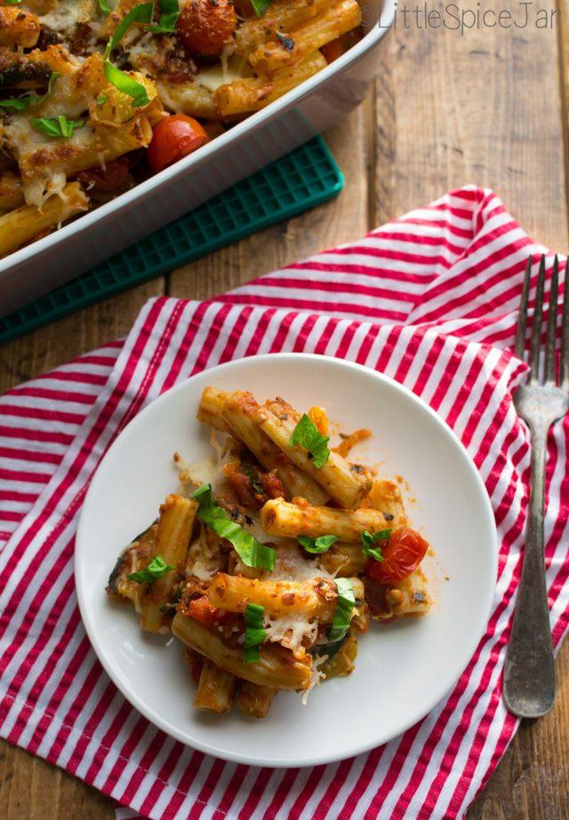 Spicy Baked Caprese Pasta 12