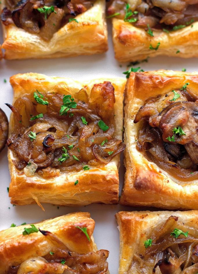 Gruyere, Mushroom, & Caramelized Onion Bites
