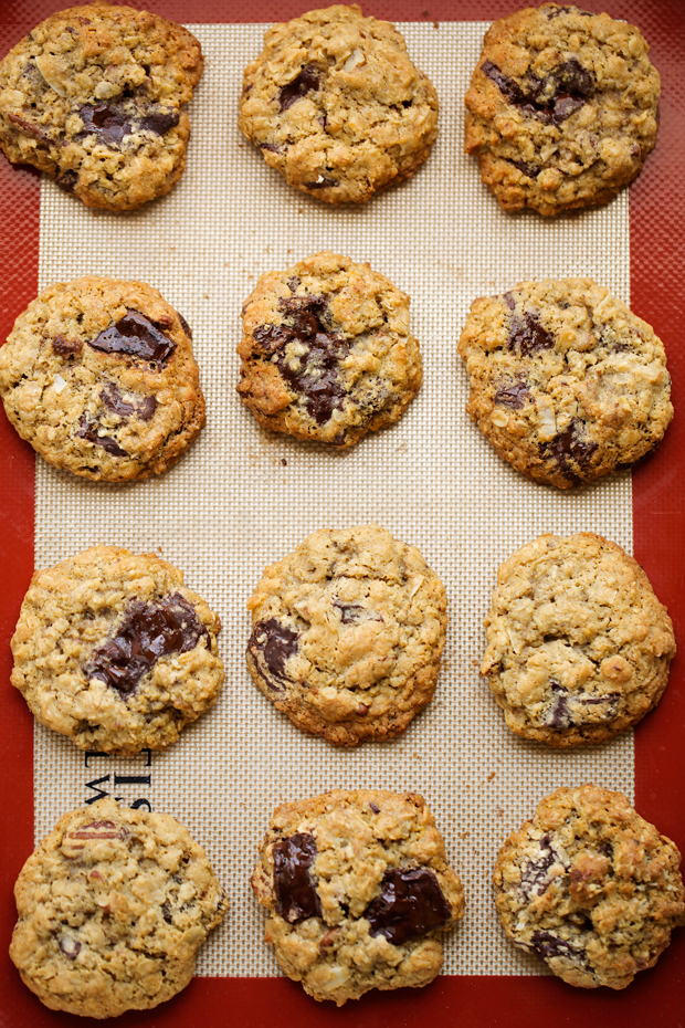 My favorite recipe for homemade chocolate chip oatmeal cookies. I load ...