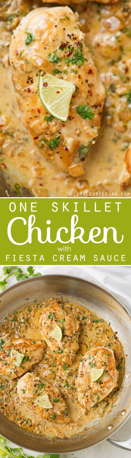 One-Skillet-Chicken-with-Fiesta-Cream-Sauce-4
