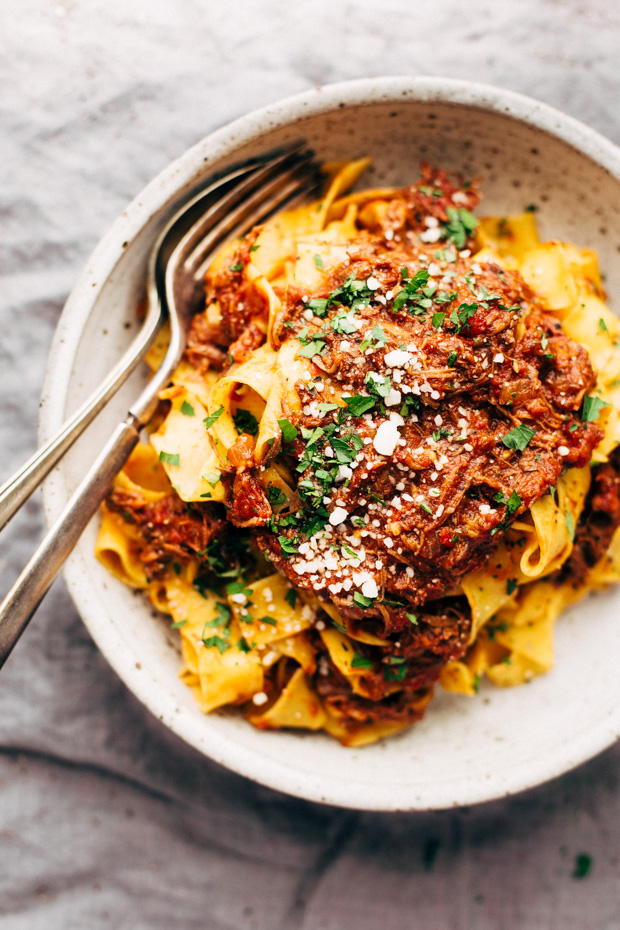 Weekend Braised Beef Ragu with Pappardelle Recipe | Little ...