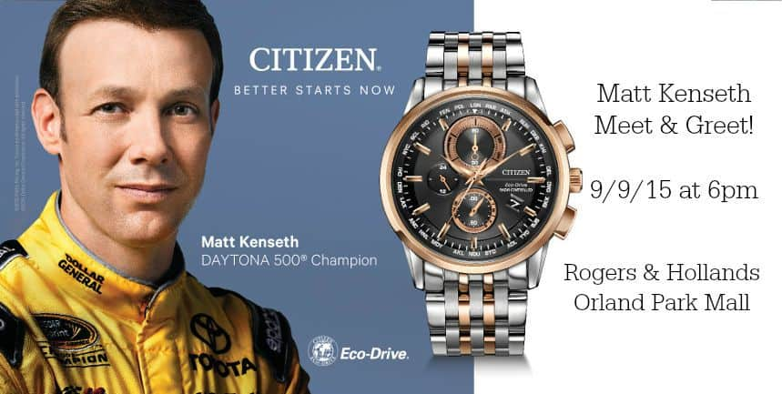 Meet Two-time Daytona 500 Champion Matt Kenseth in Chicago tomorrow!
