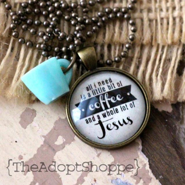 coffee + jesus necklace giveaway to support adoption
