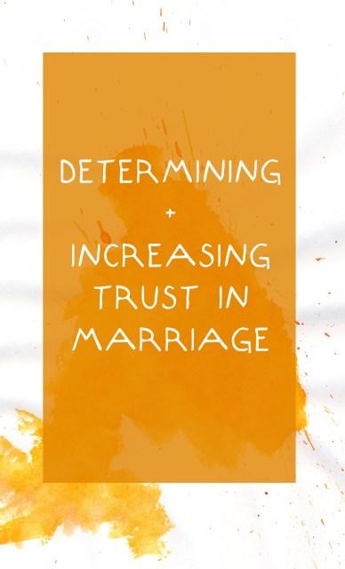 increasing trust in marriage