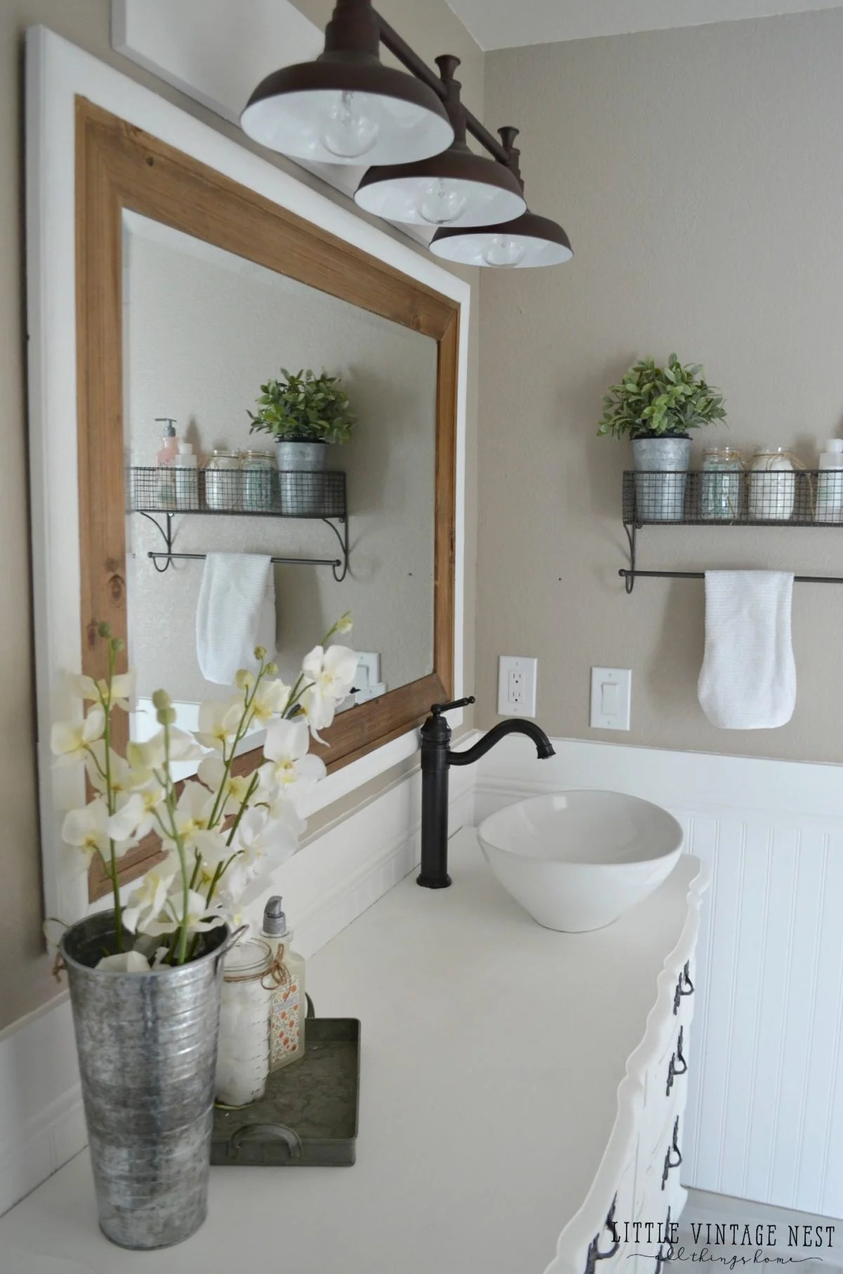 Splendiferous Light Farmhouse Master Bathroom Reveal Little Vintage Nest Farmhouse Bathroom Vanity Canada Farmhouse Bathroom Vanity Home Depot Farmhouse Bathroom Vanity houzz-03 Farmhouse Bathroom Vanity