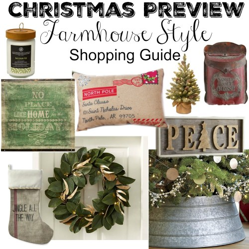 Medium Of Farmhouse Christmas Decor