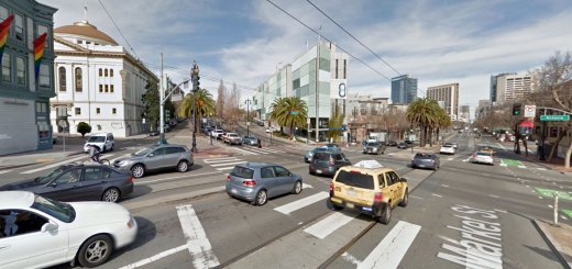 View of Market Street at Octavia from the Central Freeway