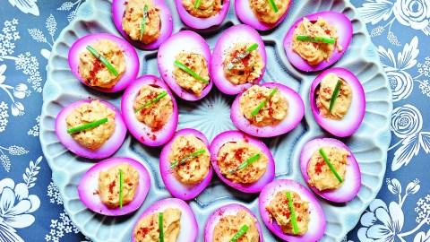 Beet Pickled Devilish Eggs Recipe