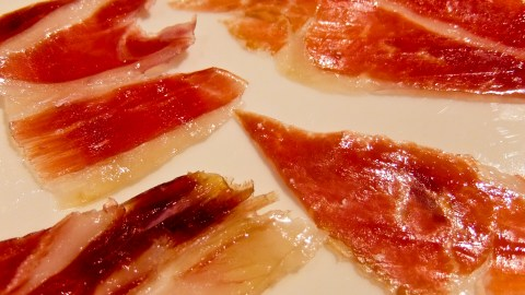 carved ham slices