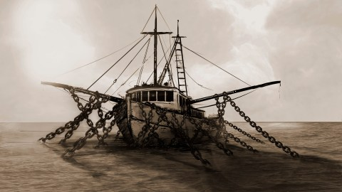 shrimp boat illustration