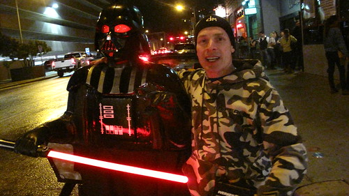Lee Nash and his Darth Vader pedicab.