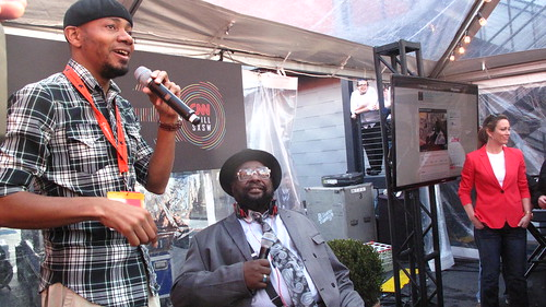 DJ Spooky with George Clinton at the CNN Grill