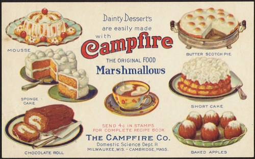 Dainty Desserts are easily made with Campfire Marshmallows, the original food [front]