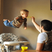 Dad creates photos of his son 'flying' to raise awareness for Down syndrome