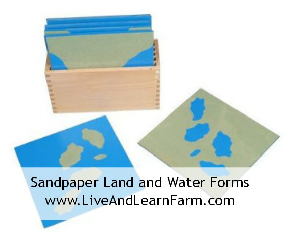 Sandpaper Land and Water Forms