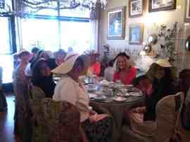 Ladies at English Rose Tea Room Carefree AZ