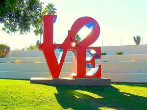Scottsdale AZ Love Sculpture Civic Center Mall