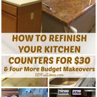 HOW TO REFINISH YOUR KITCHEN COUNTERS FOR $30