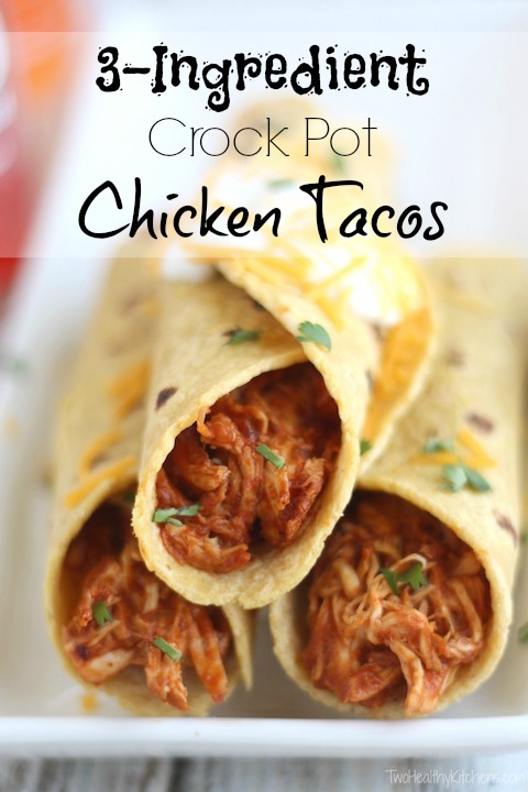 3-Ingredient Crock-Pot Chicken Tacos