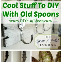 COOL STUFF TO DIY WITH OLD SPOONS & A FEW FORKS TOO!