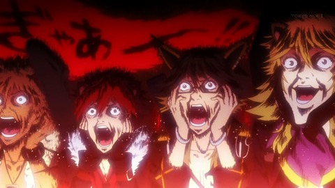 【SHOW BY ROCK!!】第7話 感想 サンリオキャラクター大賞、初日トップ集団の顔芸