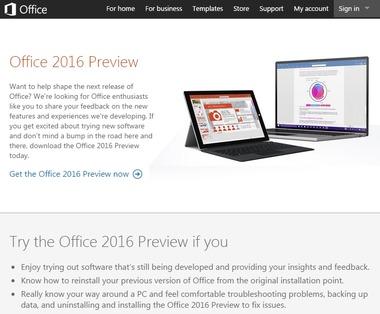 「Office 2016」のプレビュー公開 Wordなどの共同編集機能、メールの自動整理、OneDriveとの統合強化