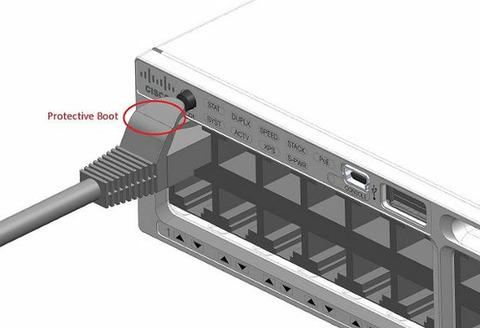 LANケーブルの保護パーツでスイッチハブのリセットボタン押してしまう不具合、世界中のデータセンターに配備されてる製品