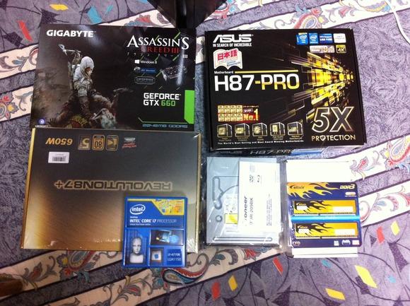 PCの部品届いたから今から組み立てる