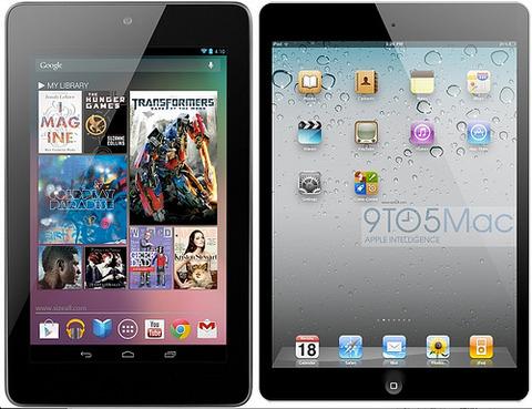 iPad miniを待ちかまえている強敵: Nexus 7の月間売上台数が100万に接近