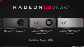 「Radeon RX Vega 64」のレビュー解禁は8月14日