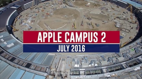 新社屋の宇宙船ビルこと「Apple Campus 2」もうすぐ完成? 最新の空撮動画が公開
