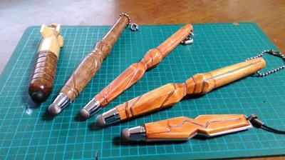 木製の自作タッチペンできたから晒す