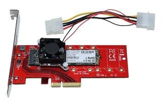 玄人志向からM.2 SSDのの発熱対策に、冷却ファン付きPCIe変換カード「M.2F-PCIe」が登場