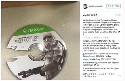 米国人気シンガーが『Star Wars: Battlefront』ディスクを破壊してゲーム批判、ユーザーから非難の声も